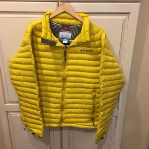 Columbia omni-heat down puffer jacket xl